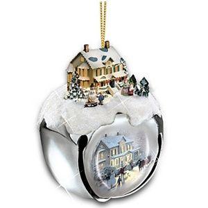 Thomas Kinkade Sleigh Bells Ornament Set Issue 1 Nwt